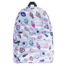 Women's bag Female Backpack Fashion Feminina Travel 3D Print Casual Schoolbag Pack for Teenage Girls Bookbag Mochila Bolsas 2019