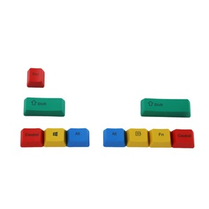 Image 5 - OEM Profil PBT RGBY CMYK Schlagzähmodifikatoren 10 Tasten Laser Gravierte Tastenkappen Mac Tastenkappen Für Cherry MX Mechanische Tastatur