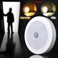 Hot magnético infravermelho pir auto motion sensor 5 led wall light lâmpada detector de luz noturna inteligente para corredor armário do quarto