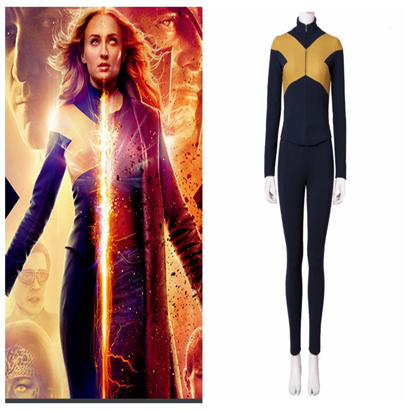 Cos Jean gris 2019 x-men: Costume Cosplay Phoenix foncé combinaison veste uniforme Costume pour femmes filles Halloween carnaval Costumes
