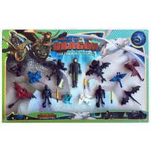 New Genuine How to Train Your Dragon 3 Hiccup Horrendous Haddock Light Fury Toothless 13 sets of ornaments Kids toy Gifts