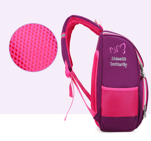 Image 4 - New Children School Bags Girls Butterfly School Backpack Kids Satchel Boy Car Knapsack Girl Backpack For School Space Bag