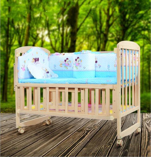 0-4 лет твердой древесины многофункциональный детская кроватка детская кровать может отрегулировать высоту ребенка кровать с хранения функция.