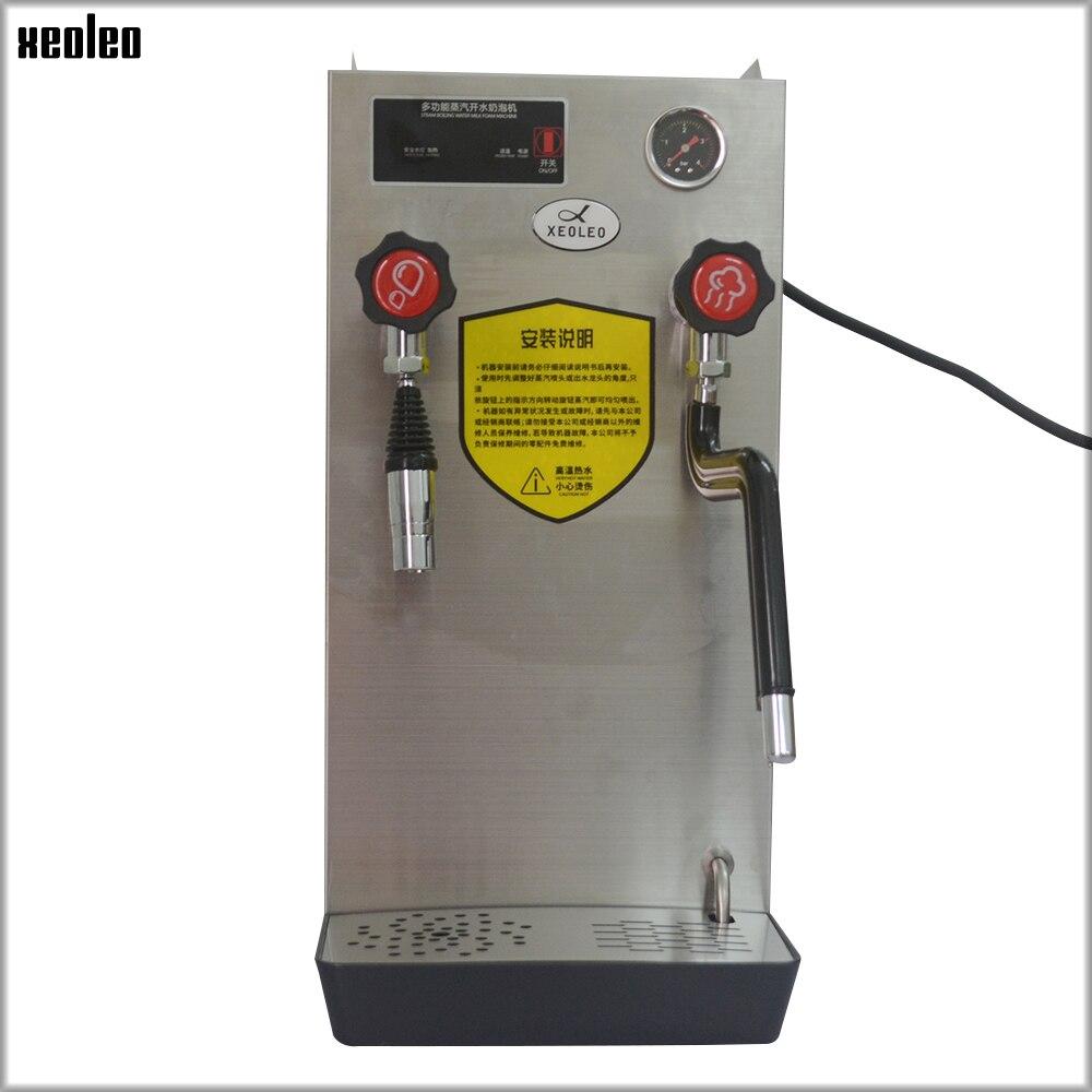 Machine à vapeur d'eau chaude XEOLEO machine à vapeur de café machine à mousse de lait Double fonction 8L 2500 W machine à eau en acier inoxydable