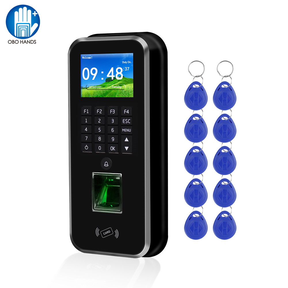 Password Access Control System RFID Keypad Fingerprint Biometric Attendance Machine Time Clock Recorder TCP/IP/RS485 USB Realand