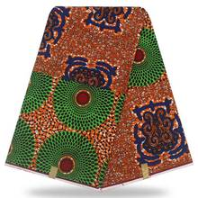 Mitex Print Cotton Fabrics African Kente Block Wax Fabric, Veritable Real 6yards Lot YBGHL-41-2