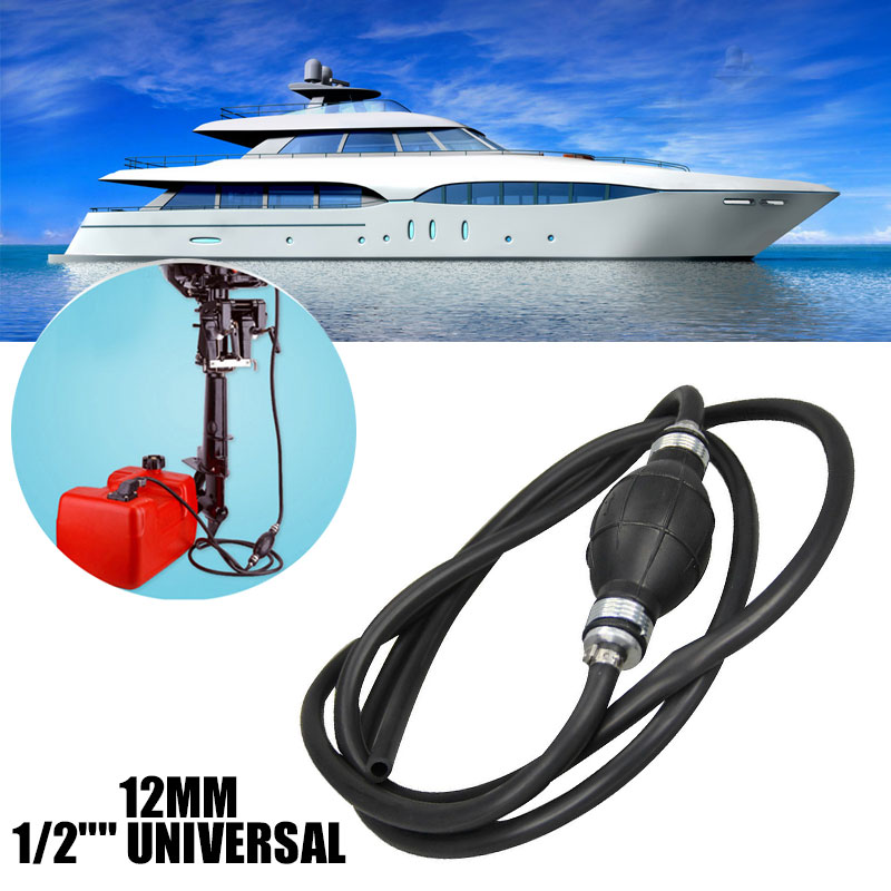 Vehemo 12mm Fuel Line Assembly RVs Fuel Pipe Outboard Boat Hose Assembly for Tractors Caravans Marine for Part image
