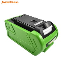 Powtree 6000mAh For GreenWorks 29282 40V High Quality Li-ion Rechargeable Replacement 29462 29472 20672 29302 29662 29692 Tools bonacell 40v 6000mah rechargeable replacement battery for creabest 40v 200w greenworks 29462 29472 22272 g max gmax l30