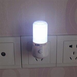 Image 2 - 1 ワット ac 110 220 v led ミニナイトライト eu/米国のプラグインのための子供ベビー寝室の壁ソケットライト家の装飾ランプ