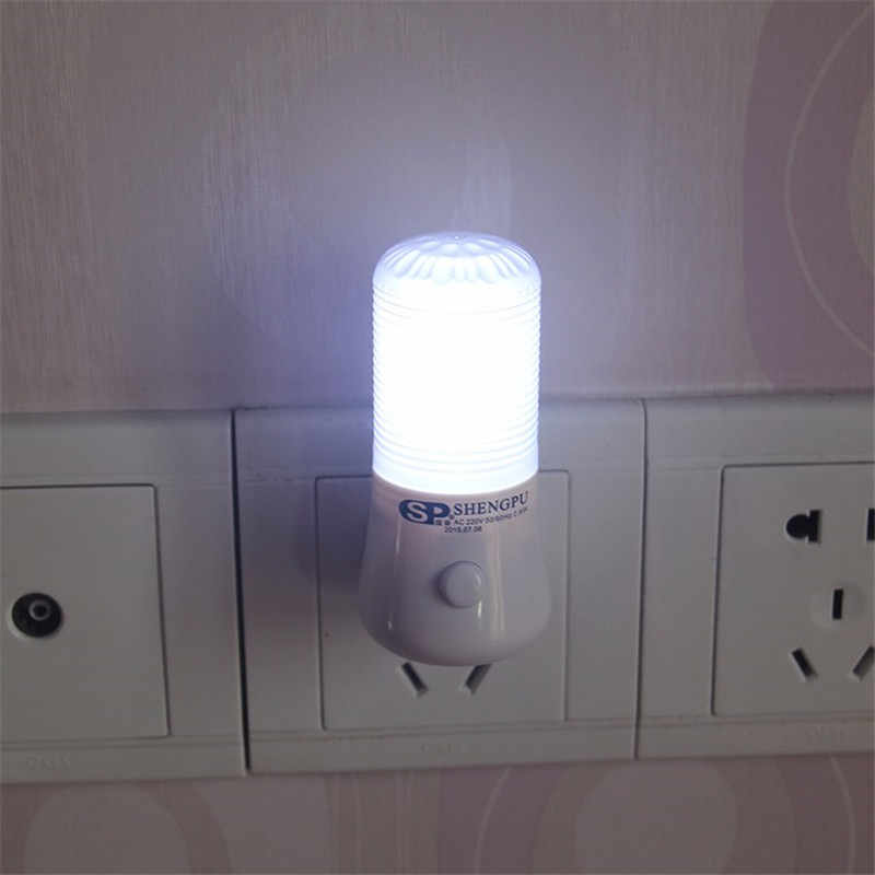 AC110-220V Led ナイトライトベッドサイドランプ子供の寝室の壁ソケットライト家の装飾ランプ