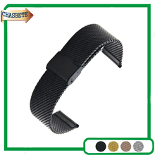 Pulseira de Aço inoxidável Watch Band para Armani 16mm 18mm 20mm 22mm 24mm Das Mulheres Dos Homens de Metal Strap Correia de Pulso Pulseira Laço prata