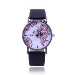 2018 новый дизайн Montre Homme 2018 женские часы Творческий самолет указатель географические карты часы модные кожаные кварцевые часы для студентов