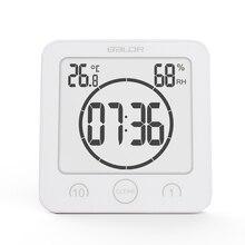 Водонепроницаемый Измеритель температуры и влажности, цифровые настенные часы для ванной, таймер, кухонный термометр, гигрометр, будильник обратного отсчета