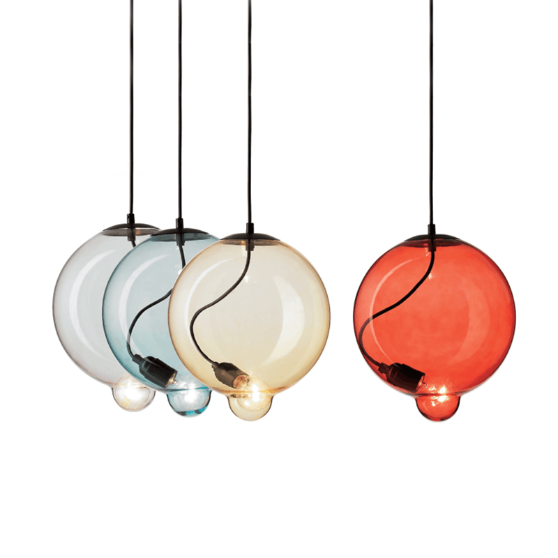 Posr modern new arrival pendant lights colorful glass bubble droplight bedroom foyer coffee shop study office lighting fixture|Pendant Lights| |  - title=