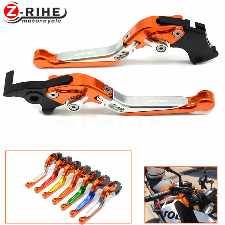 Brake Folding Adjustable Motorcycle accessories Brake Clutch Levers Telescopic folding For ktm 990 SuperDuke 690 Duke 1290 Super for ktm 690 smc duke 2012 2013 motorcycle accessories adjustable folding extendable brake clutch levers black