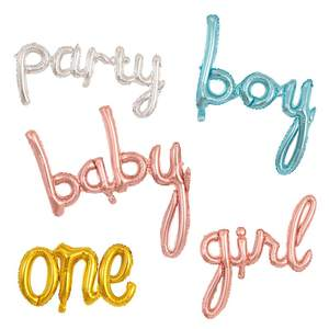 Balloons Baby Letter-Foil Shower Birthday-Party-Decoration Rose-Gold First Boy Girl Air-Globos
