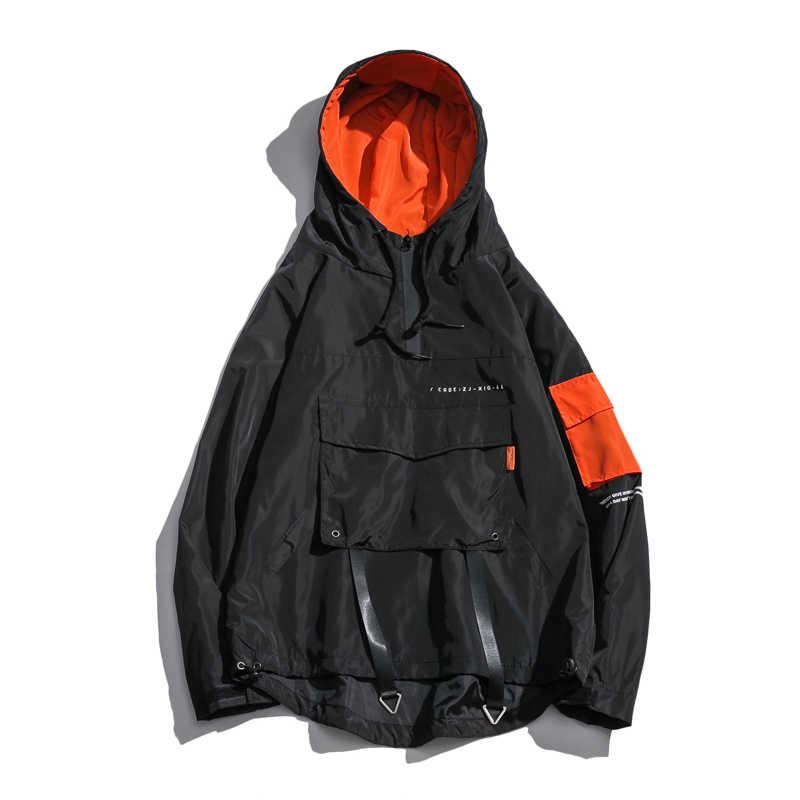 2019 хип хоп Весенняя Мужская куртка; ветровка Лоскутная Осенняя свободная повседневная куртка Мужские пальто спортивный костюм на молнии уличная 4XL 5XL