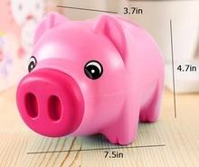 Cartoon cute Pink pig coin crash box gift children save  Money Saving Box Case Coins Kawaii Pig Shaped Piggy Bank