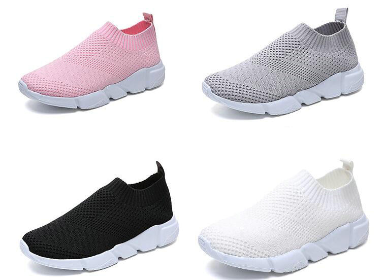 2019 Summer Breathable Mesh White Sneakers Women Casual Shoes Black Flats Sneakers Ladies Shoes Chaussure Femme