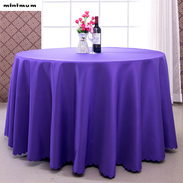 Custom Solid Color Thickening Tablecloth Hotel Restaurant Meeting Room  Table Cover Rectangle Round Dining Table Cloth