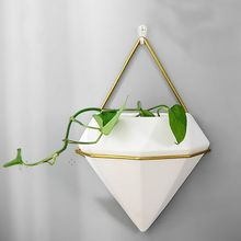 Wall Decor,Modern Hanging Planter Vase, Geometric Wall Decor Container - Great for Succulent Plants, Air Plant, Faux Plants