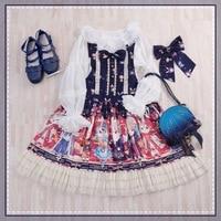 Free Hot Sale Shipping 2019 New Original Design Lolita Showa Rabbit Jsk Japanese Daily Straps Dress Cute Young Girl