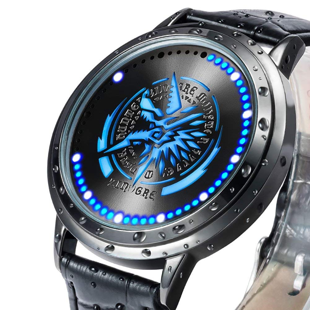 Monster Hunter MHX Watch Rathalos Icon Stygian Zinogre Collector's Edition LED Touch Screen Waterproof Watches Wristwatch