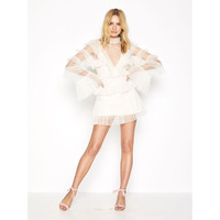 2019 White And Black Ruffles Summer Dress Fashion Flare Long Sleeve Women Dress Sexy Chic Celebrity Cocktail Party Vestidos