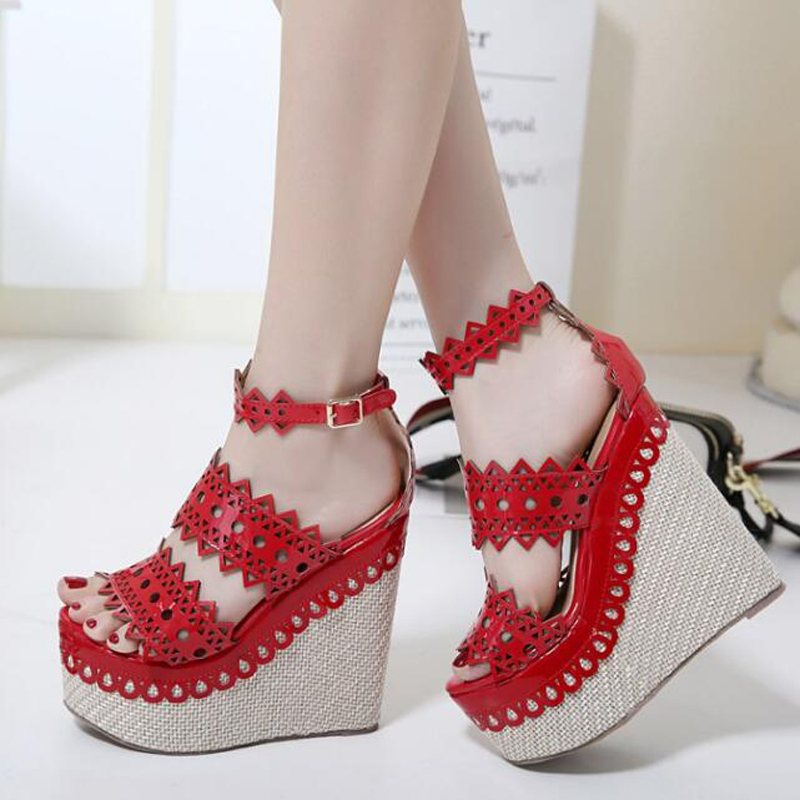 ladies gladiator sandals wedge shoes strappy High Heels shoes Platform sandals women summer shoes open toe Wedges sandals X437 women sandals shoes 2017 summer shoes woman gladiator wedges cool fashion rivet platform female ladies casual shoes open toe