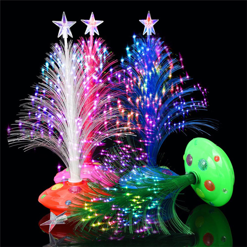 New LED Colorful Changing Mini Christmas Tree Decoration Table Party Charm Desk Decorations Gift for Home decor #4o26#f (13)