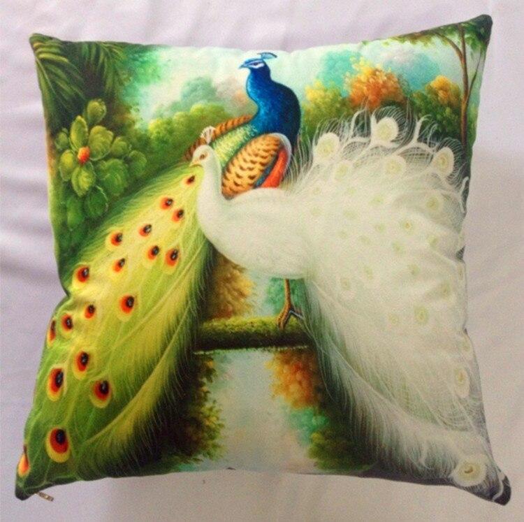 Horký výprodej nový potisk labuť / páv polštář a polštář pasu polštář bavlna dekor v posteli pohovka auto