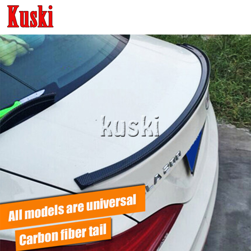 Car Carbon Fiber Rear Spoiler Wing for <font><b>Suzuki</b></font> <font><b>Swift</b></font> Grand Vitara SX4 Vitara 2016 Jimmy For Subaru Forester Impreza XV image
