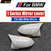 F20 Mirror Covers Look Replacement ABS Pure white For BMW F20 118i 120i 125i 128i 135i 135i Rear View Side Mirror Covers 2014 in