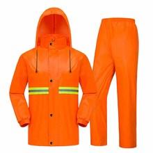 где купить Thick double raincoat split suit cross-border direct rain pants adult reflective bicycle electric motorcycle riding waterproof s по лучшей цене