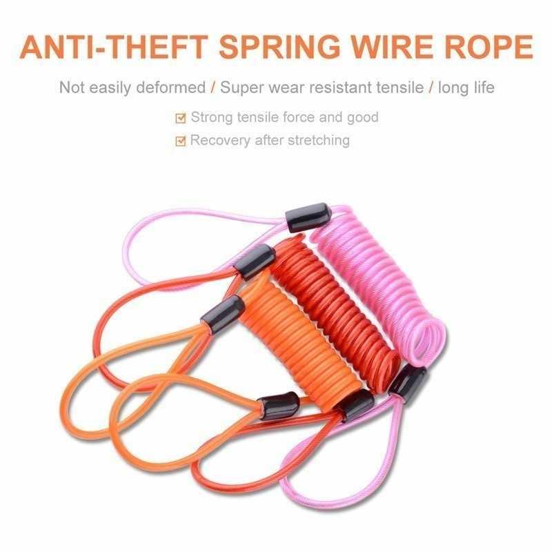 150 Cm Sepeda Motor Anti-Theft Pengingat Kabel Sepeda Rem Disc Kunci Keamanan Anti Pencurian Spring Tali Perlindungan Alarm Lock