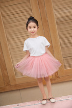2019 summer baby girls set suit two-piece  Solid simple white half-length fluffy skirt short dress cake princess for
