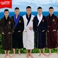 Плюс размер XXXL мужской махровые халаты 100% хлопок утолщение вытирают мужчины халат