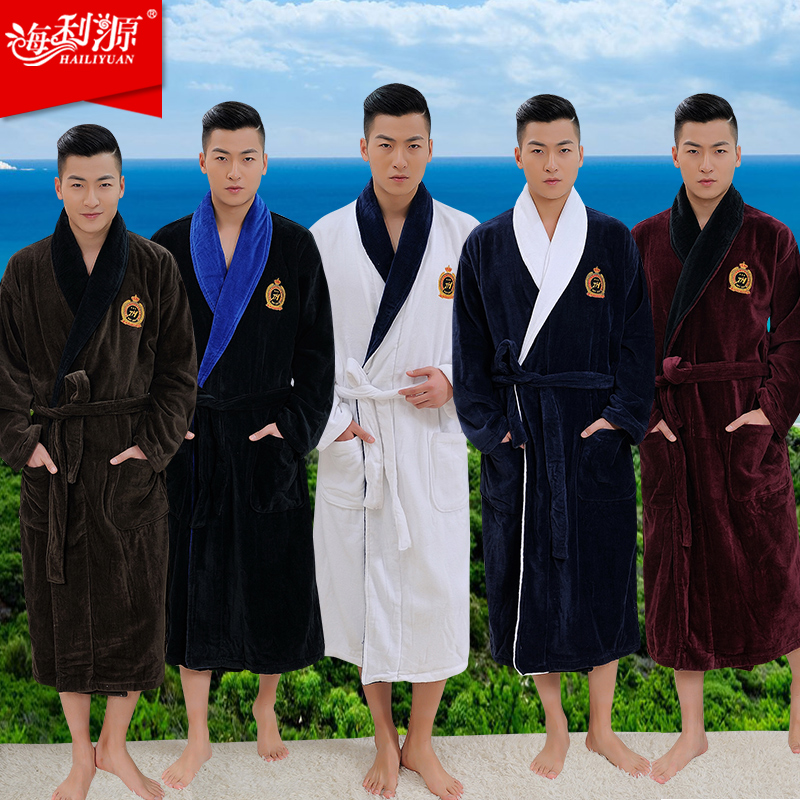 Top Quality robe men Plus size XXXL bathrobe Men terry bathrobes 100 cotton thickening toweled men