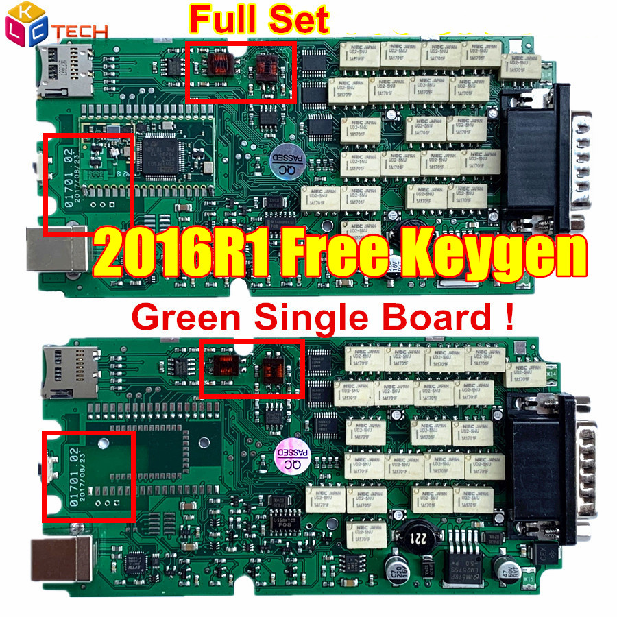 Red 701 2016R1 2016.00/2015R3 Keygen Single Green PCB tcs OBDIICAT-CDP OBDII interface CAR/TRUCK Diagnostic tool Auto Scanner