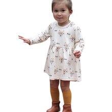 da1ce506caf76 فتاة اللباس الاطفال الملابس 2018 العلامة التجارية الخريف طفل رضع أطفال  فتيات الثعلب الكرتون طباعة الأميرة