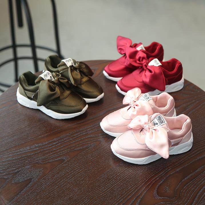 b071d8fd1f US $8.47 32% OFF HaoChengJiaDe Kids Girls Shoes With Bow Fashion Sneaker  Children Baby Girl Casual Sport Shoes Princess Cute Soft Shoes in stock-in  ...