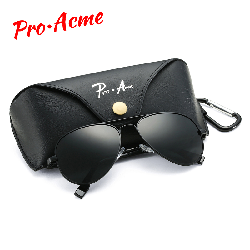 Pro Acme Classic Pilot Polarized Sunglasses for Men Women Metal Pilot Sun Glasses Driving Eyewear 58mm UV400 With Case PA1095 in Men 39 s Sunglasses from Apparel Accessories