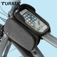 TURATA Universal Waterproof Bike Bicycle Saddle Pouch Touch Screen Bag Phone Holder for iPhone 7 Xiaomi On The Frame Bicycle Bag