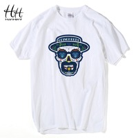 Hanhent Breaking Bad T Shirt Men Hermanos Cotton Short Sleeve Tops Tees Walter White Cook Swag