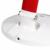 MT3677F 9 W 16LED lâmpada vermelha branca 5000 K 220 v-50 hz de tensão de freqüência de rotação livre olho proteger dimmable lâmpada de mesa luz de leitura