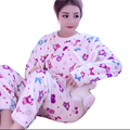 Women's Pyjamas Long Sleeve Warm Sleepwear Autumn Winter Korean Cute Pajama Sets Pijama Mujer Home Clothes Girls Nightgown