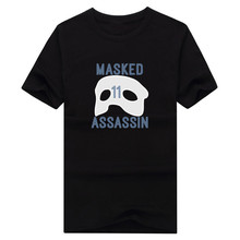 "2017 Grizzlies Mike Conley ""Masked Assassin"" T-shirt 100% cotton fashion short sleeve 11 T shirt 0113-18"