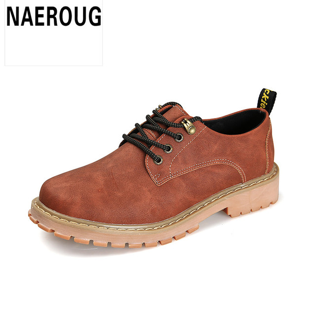 New Arrivals Casual Shoes Men Waterproof Solid Shoes Fashion Lace-up Leather Luxury Brand Male Shoes Outdoors Shoe
