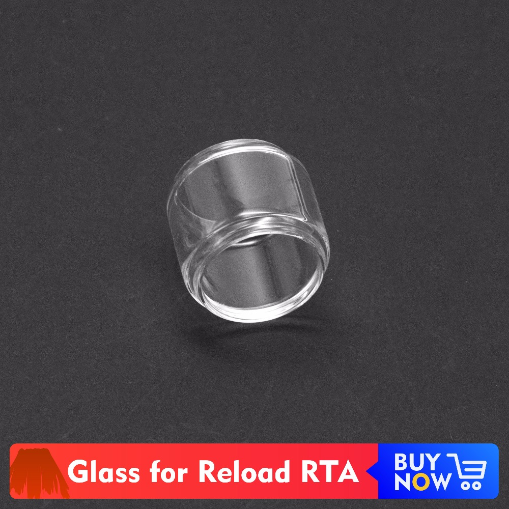 Volcanee 2pc/lot Extend Replacement Glass Tube For Reload RTA Atomizer Tank Spare Glass