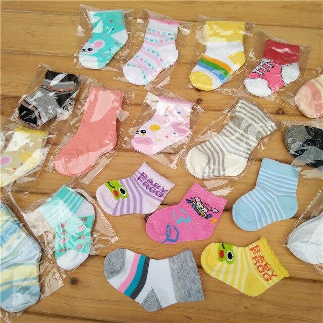 2019 5Pairs Newborn Cotton infant Anti-slip socks Baby socks floor socks Boys Girls Cute Cartoon animal Baby Toddler Socks 1